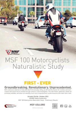MSF 100 Motorcyclists Naturalistic Study